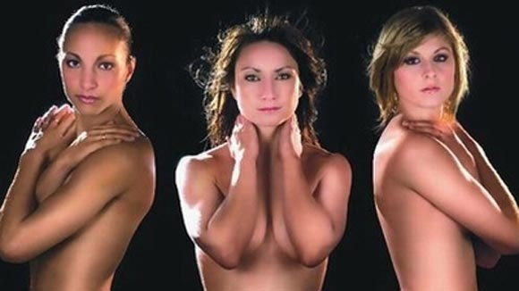 modeling nude Gaetine Thiney striker, 25, Élodie Thomis 24 years old and Corine Franco, 27 years old