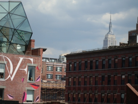 The Empire State building from the High Line