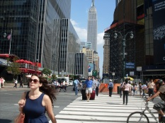 .The Empire State building from 34th St and 8th Avenue